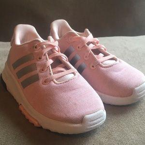 Adidas Racer rose gold toddler girl's sneakers